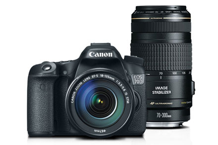 EOS 70D EF-S 18-135mm IS STM Kit with EF 70-300mm f/4-5.6 IS USM
